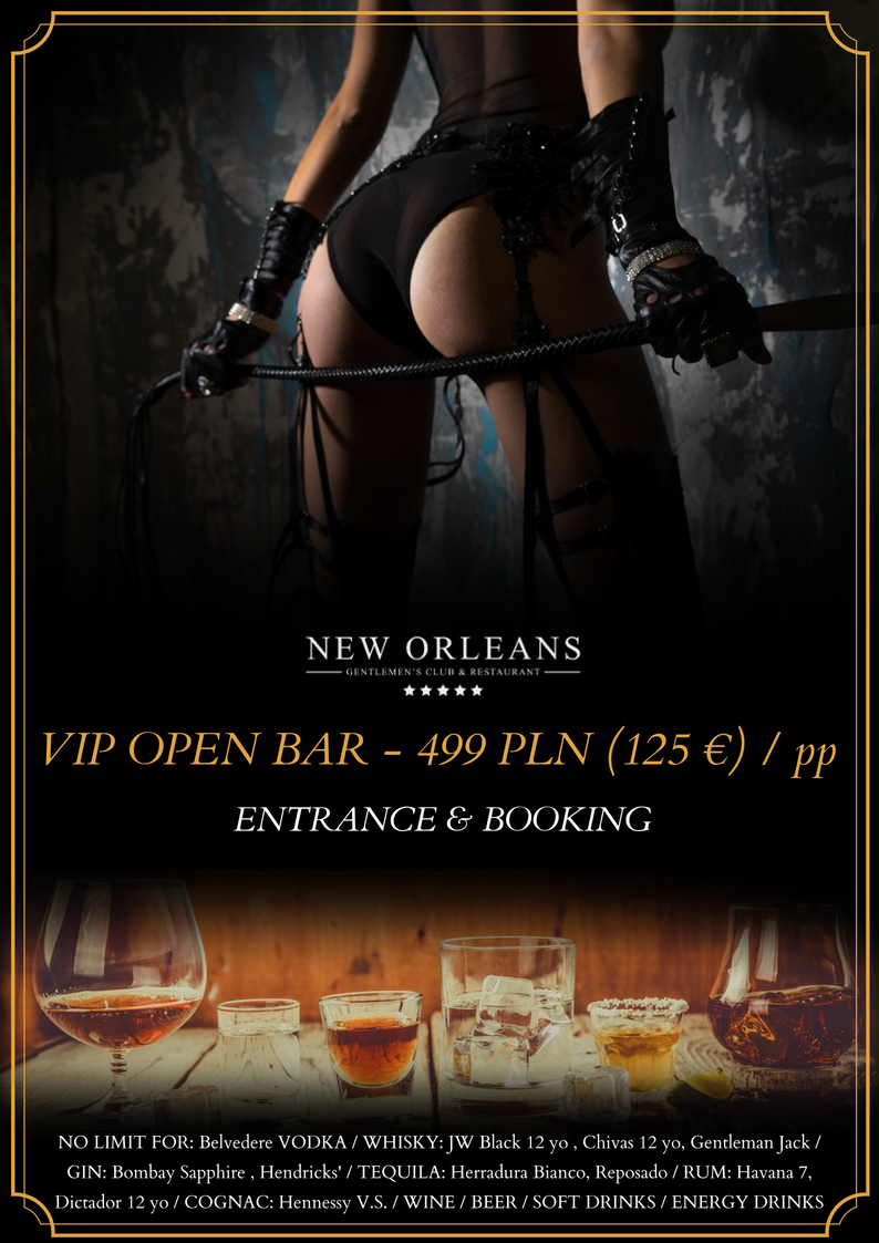 New Orleans Gentelmen's club Open Bar offer Warsaw