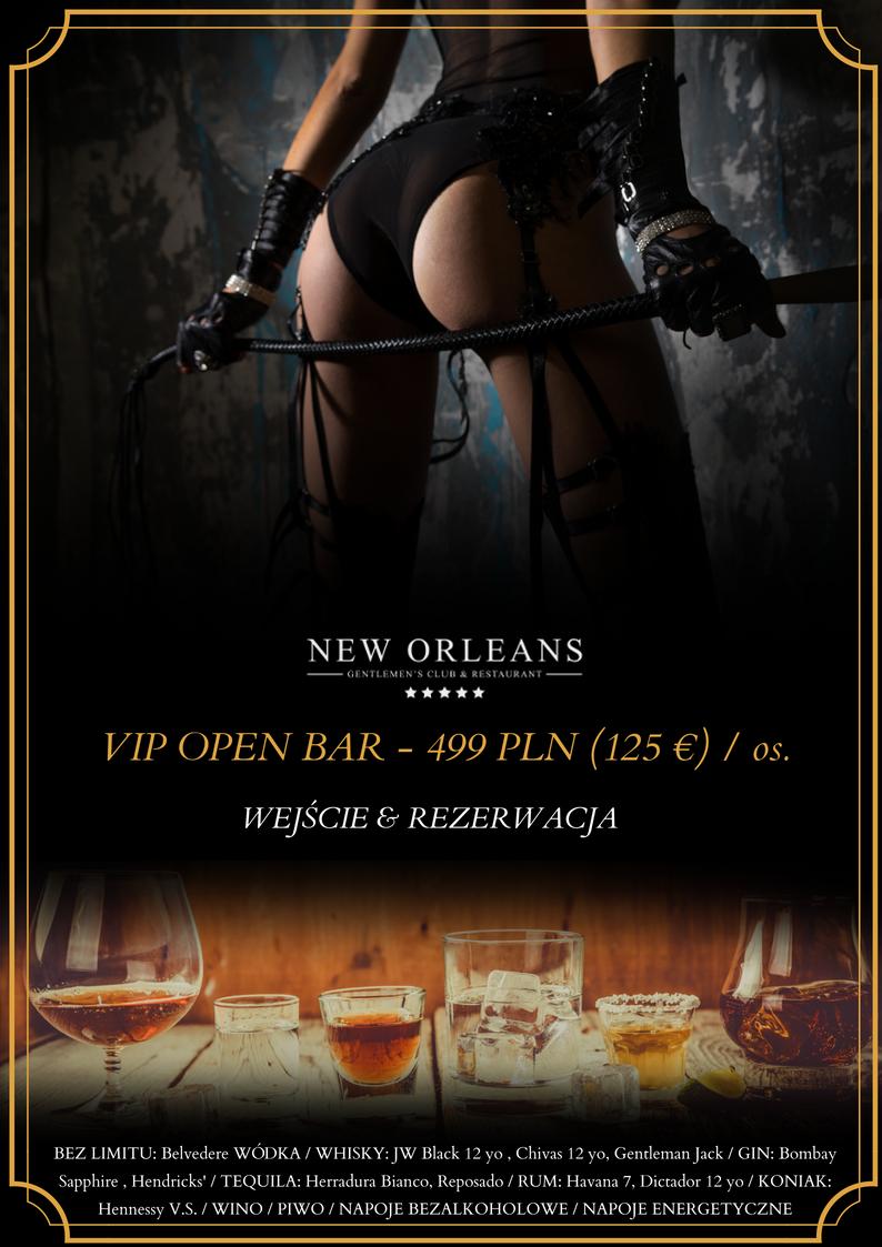 Open bar w New Orelans Warszawie