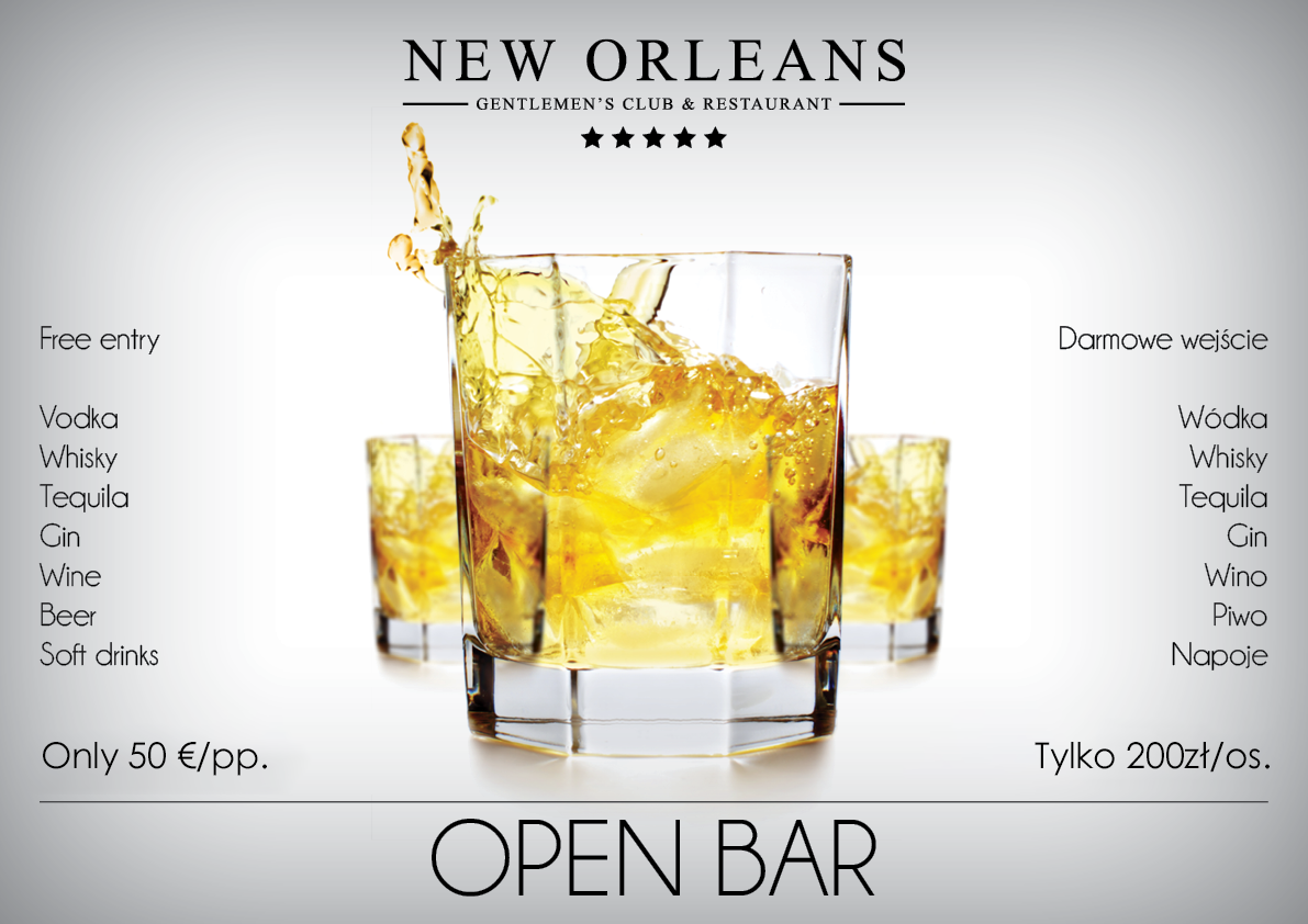 open bar New Orleans Club