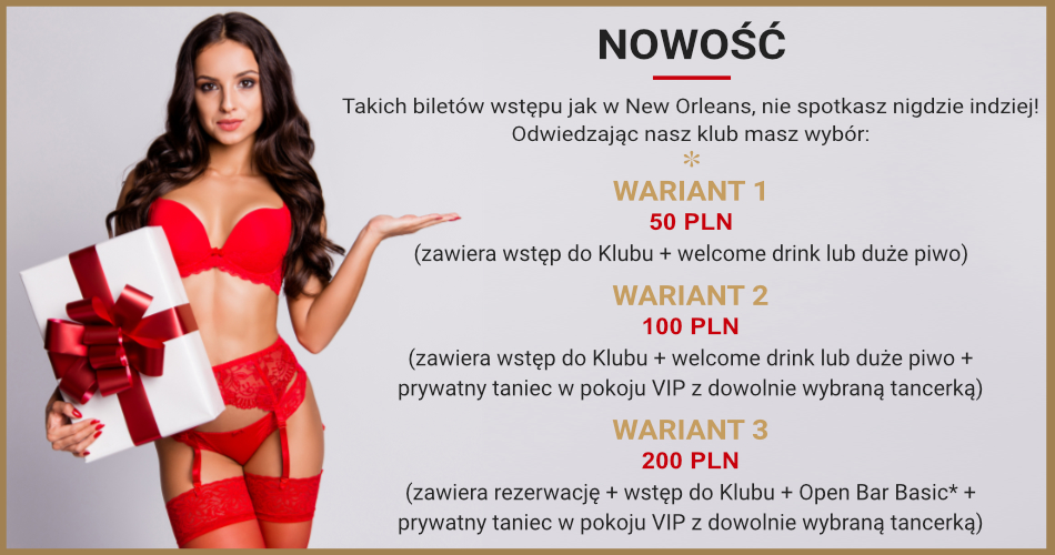 New Orleans Bilety promocja